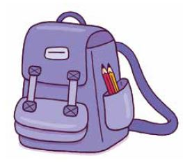 Drawing of school bag