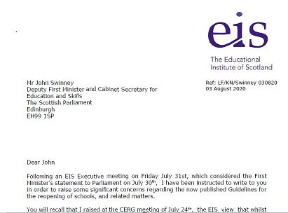 Letter to Education Directors and the Deputy First Minister